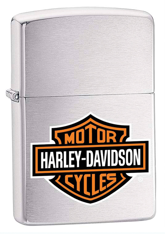 Зажигалка ZIPPO Harley-Davidson®, с покрытием Brushed Chrome, латунь/сталь, серебристая, 36x12x56 мм 2017 new summer denim jeans shorts men s casual fashion slim fit large size knee length outwear male shorts clothing men shorts