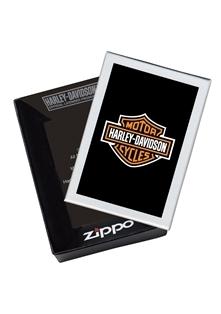 Фото 2 - Зажигалка ZIPPO Harley-Davidson®, с покрытием Brushed Chrome, латунь/сталь, серебристая, 36x12x56 мм