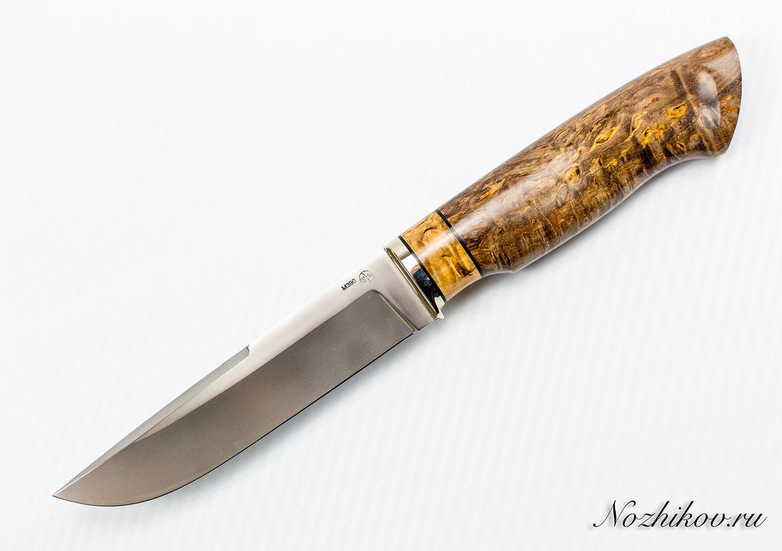 Нож Рабочий N62 из порошковой стали Bohler M390Ножи Павлово<br>Сталь: M390Длина клинка (мм.): 135 Наибольшая ширина клинка (мм.): 29 Толщина обуха клинка (мм.): 3,1 Толщина подвода (мм.): 0,3-0,5 Твердость стали: 62-63Hrc Общая длина ножа (мм.): 270 Поверхность клинка: полировка, пескоструй Спуски клинка: вогнутые<br>