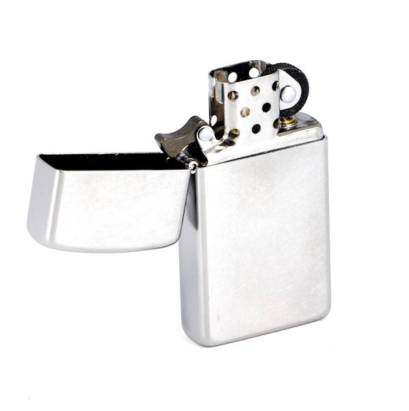 Фото 2 - Зажигалка ZIPPO Slim® с покрытием Satin Chrome™, латунь/сталь, серебристая, матовая, 30х10x55 мм