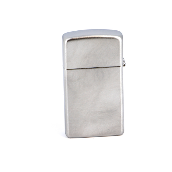 Зажигалка ZIPPO Slim® с покрытием Satin Chrome™, латунь/сталь, серебристая, матовая, 30х10x55 мм зажигалка zippo slim® с покрытием abyss™
