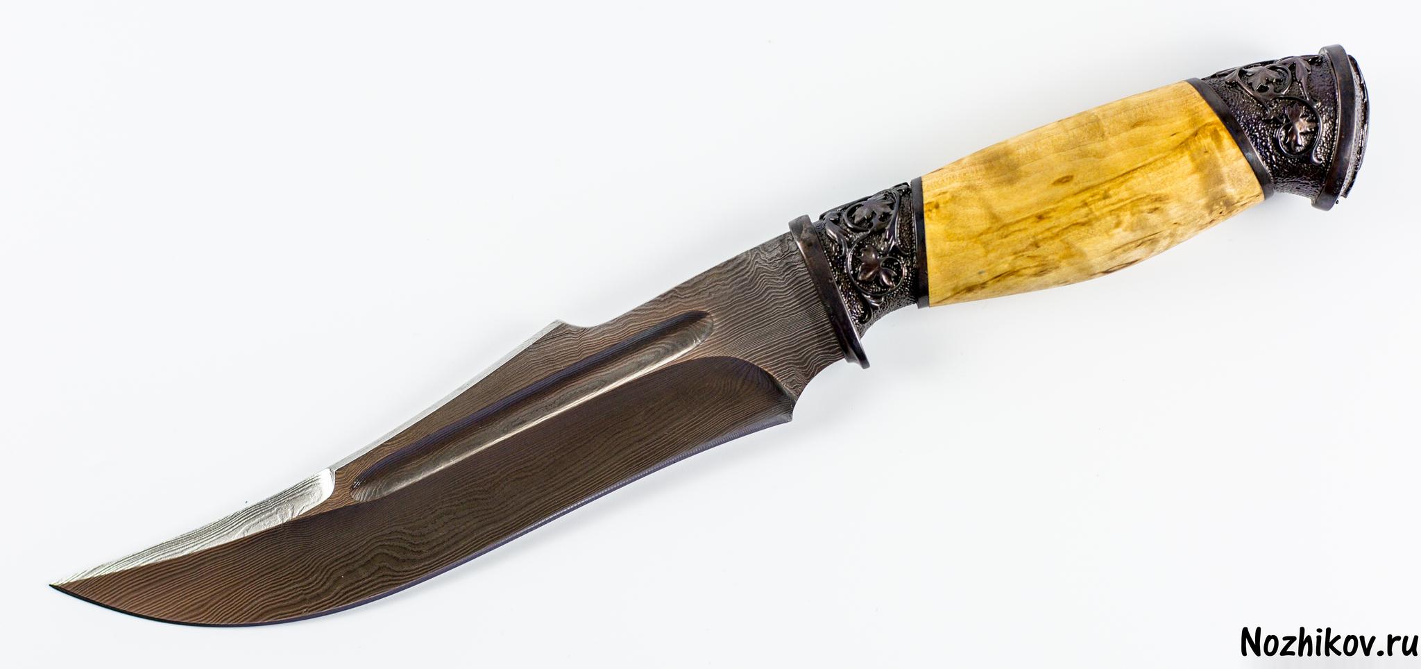 Авторский Нож из Дамаска №12, КизлярНожи Кизляр<br><br>