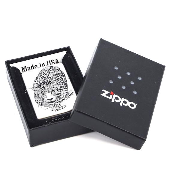 Фото 2 - Зажигалка ZIPPO Leopard Satin Chrome, латунь с никеле-хромовым покрыт., серебр., матовая, 36х56х12мм
