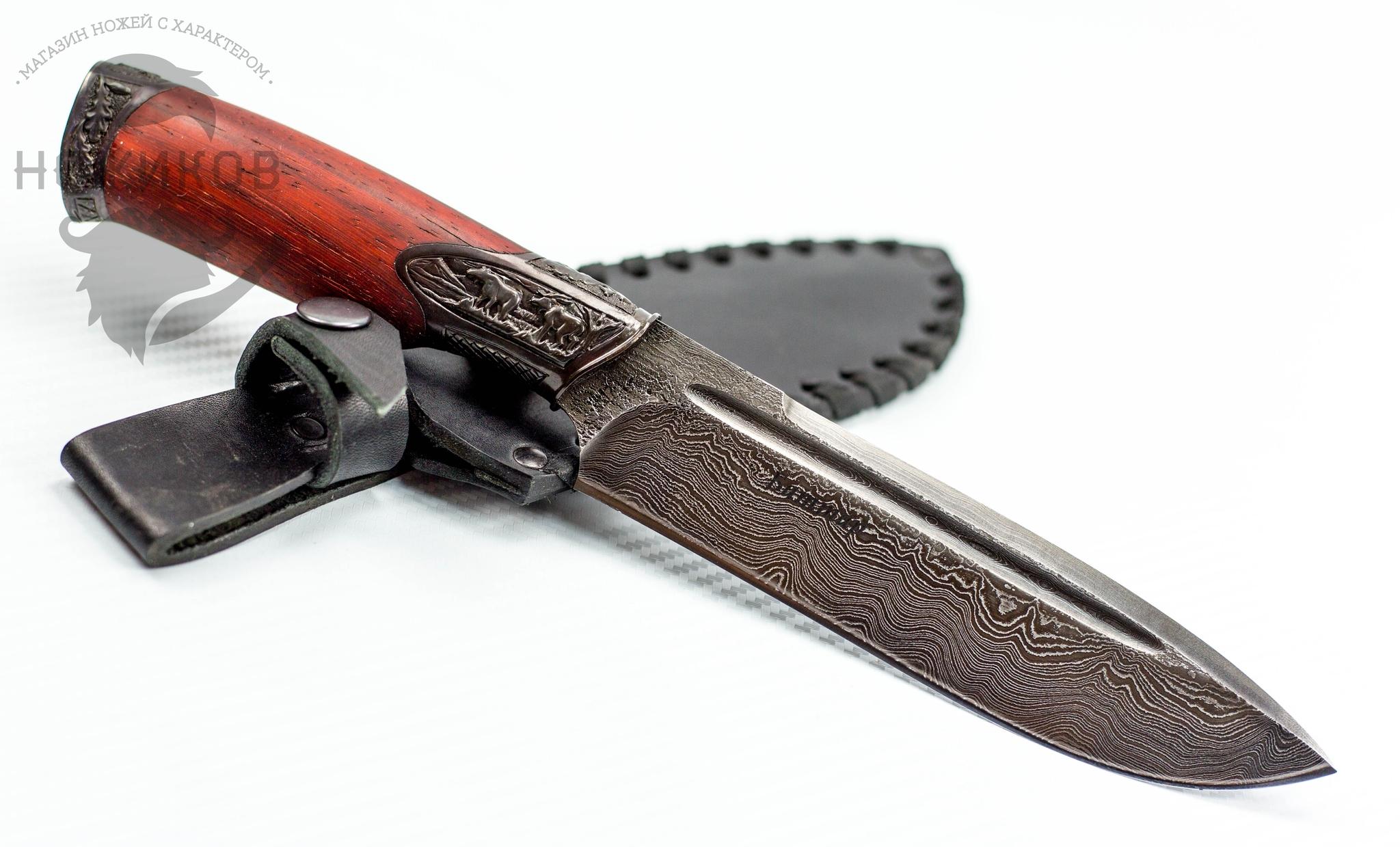Авторский Нож из Дамаска №65, Кизляр авторский нож из дамаска 15 кизляр