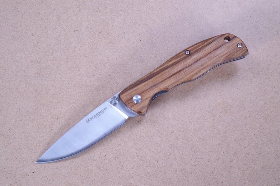Фото 3 - Нож складной Magnum Backpacker, сталь 440A Satin Plain, рукоять дерево, Boker 01EL605
