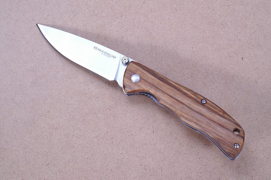 Фото 4 - Нож складной Magnum Backpacker, сталь 440A Satin Plain, рукоять дерево, Boker 01EL605