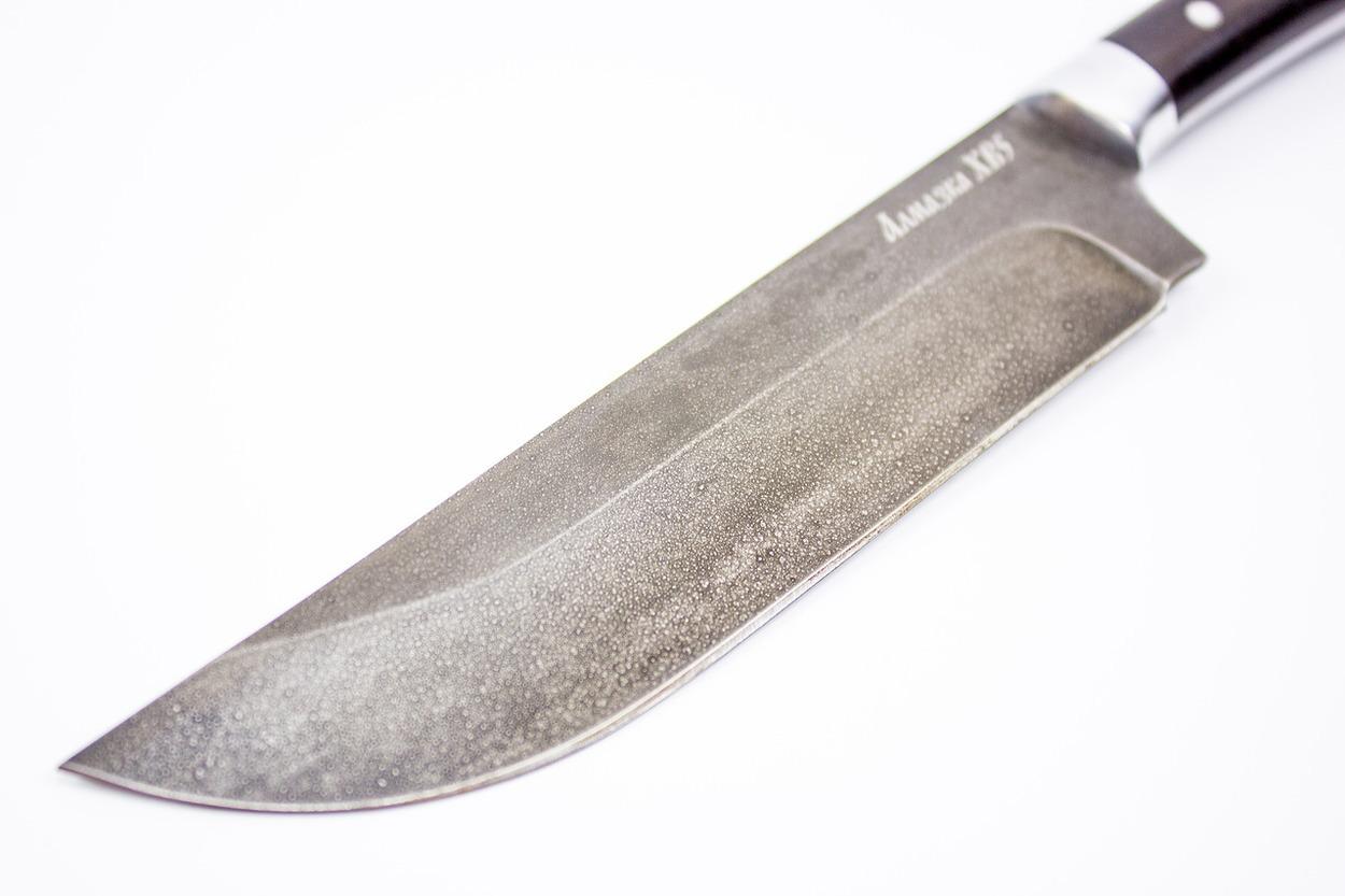 Фото 3 - Нож «Узбекский» MT-50, черный граб, алмазная сталь ХВ5