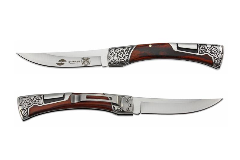 Нож складной Stinger B3165, сталь 420, дерево пакка складной нож win collection fox сталь 12c27 дерево