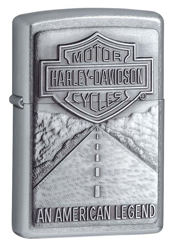 Зажигалка ZIPPO Harley-Davidson® Легенда, с покрытием Street Chrome™ universal highway footpeg footrest for harley 32mm engine guard crash bar chrome kawasaki suzuki bar motorcycle