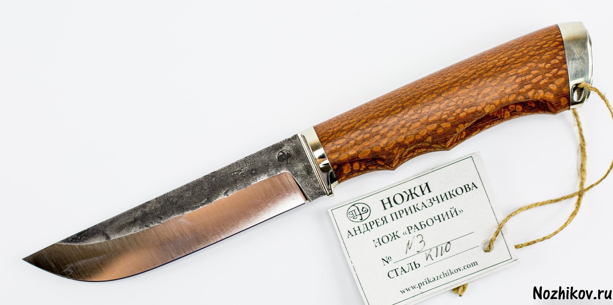 Нож Рабочий №3 из K110, от ПриказчиковаНожи Павлово<br><br>