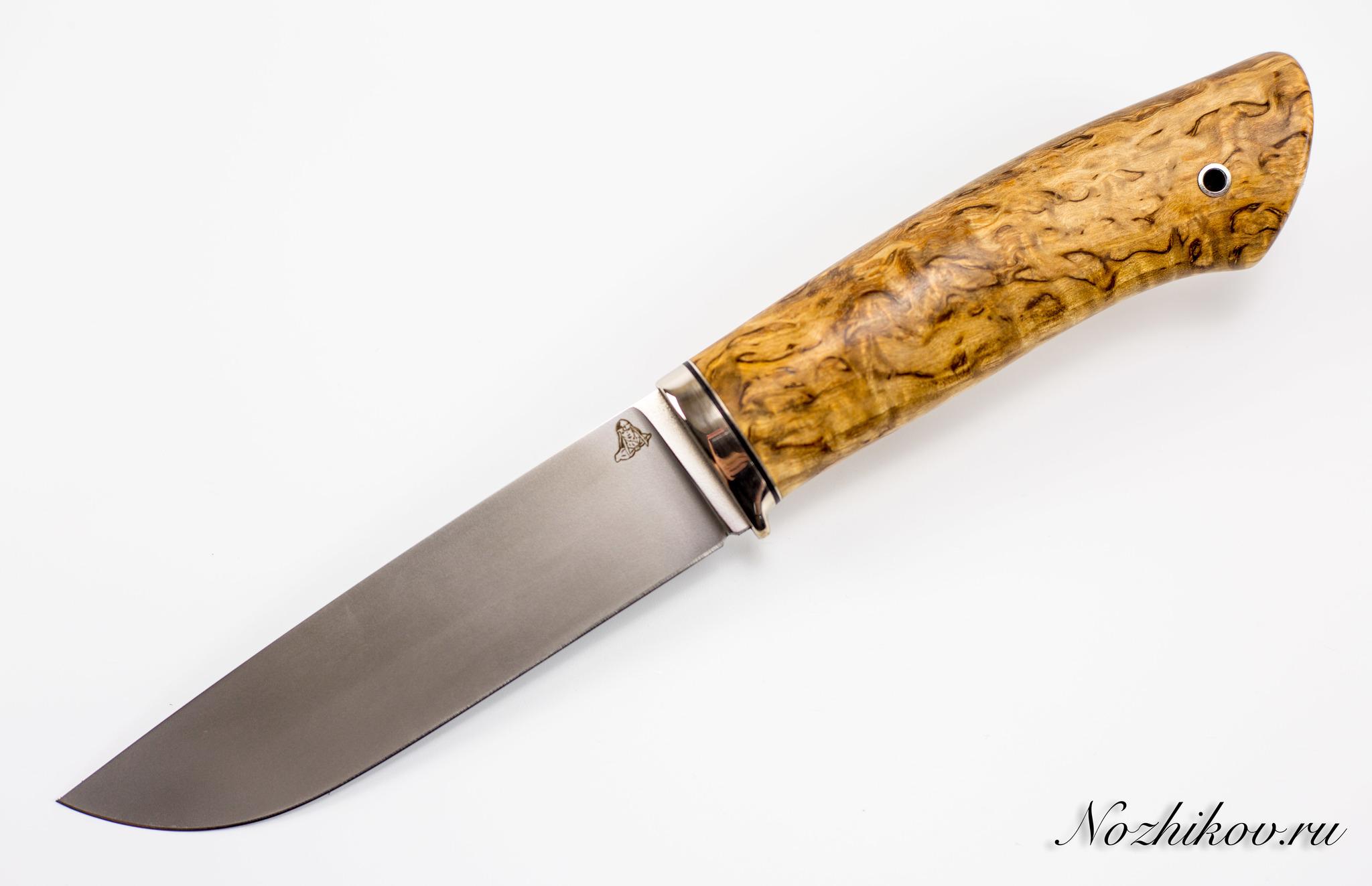 Нож Клык, vanadis 10, мельхиор, карельская березаНожи Ворсма<br><br>