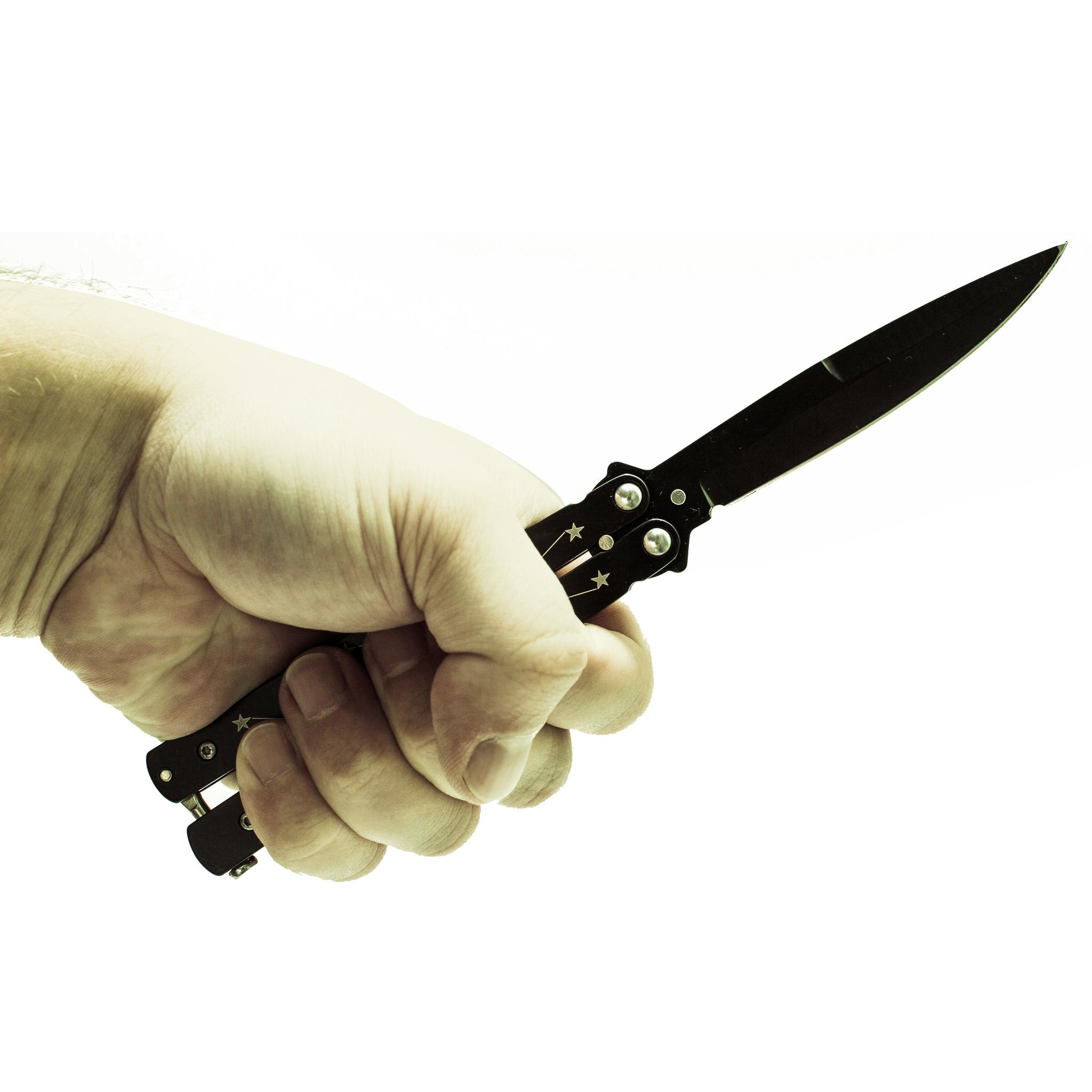 """Нож-бабочка (балисонг) Звездочет от Магазин ножей """"Ножиков"""""""