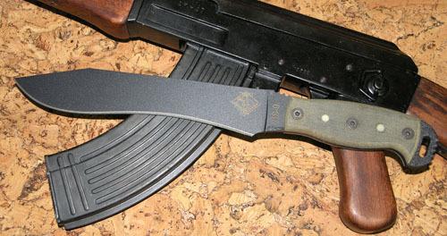 Нож с фиксированным клинком Ontario NS-9 Black Micarta , фосфорные доты мачете ontario sp8