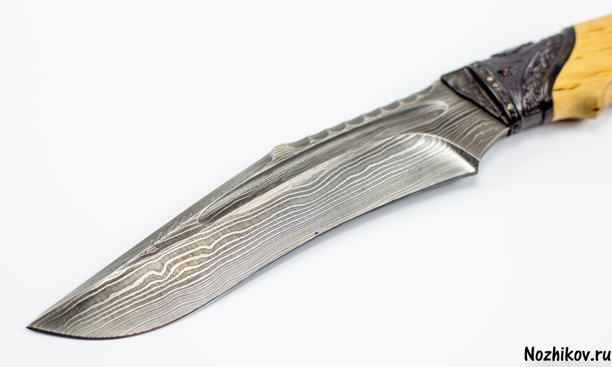"""Авторский Нож из Дамаска №27, Кизляр от Магазин ножей """"Ножиков"""""""