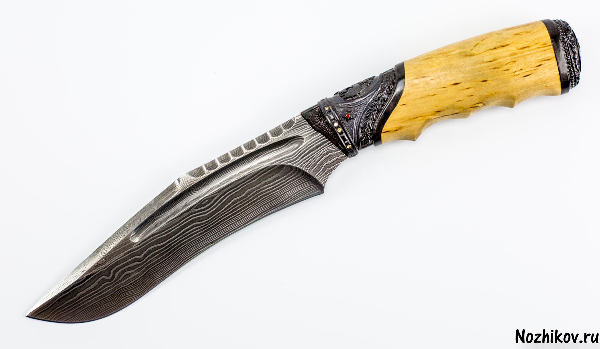 Авторский Нож из Дамаска №27, КизлярНожи Кизляр<br><br>