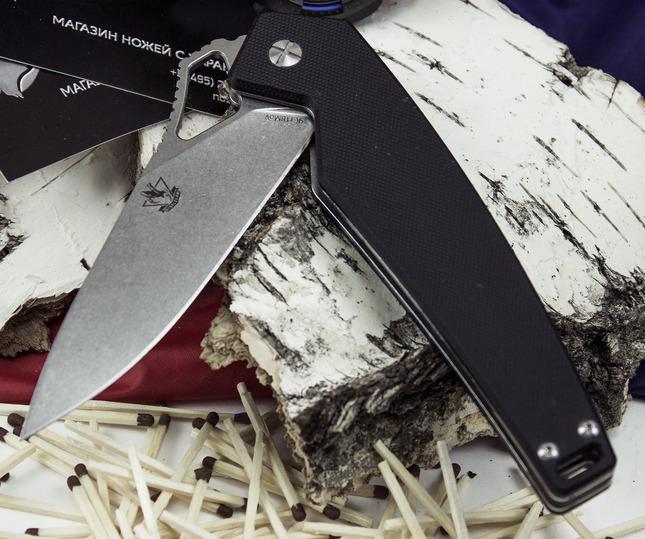 Складной нож Варлок, черный