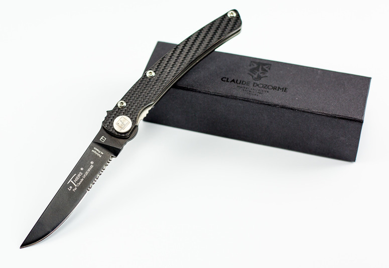 Фото 3 - Складной нож Thiers Design, рукоять карбон от Claude Dozorme