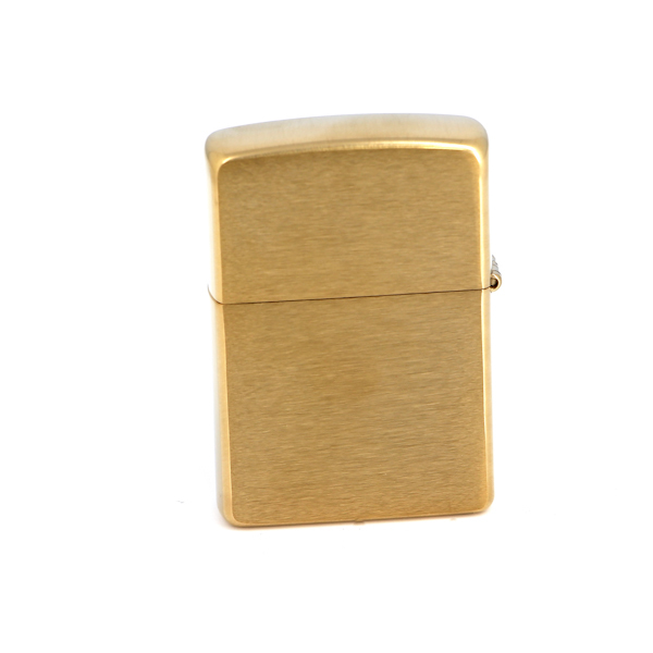 Зажигалка ZIPPO с покрытием Brushed Brass free shipping european style brass black oil brushed solid brass bathroom soap holder soap basket bathroom accessories