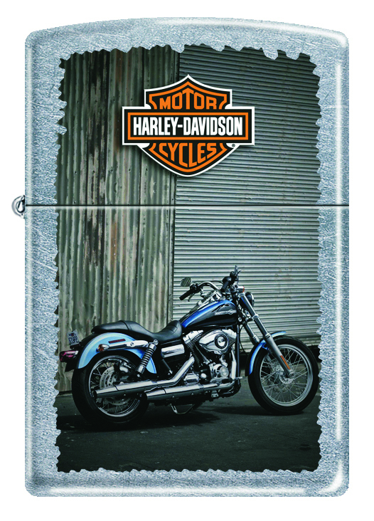 Зажигалка ZIPPO Harley-Davidson® Байк, с покрытием Street Chrome™, латунь/сталь, серебристая, 36x12x56 мм motorcycle chrome skull horn cover for harley sportster dyna softail glide ultra road king classic custom