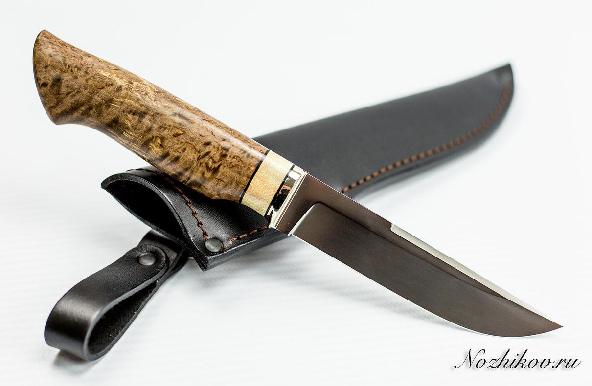Нож Рабочий N61 из порошковой стали Bohler M390Ножи Павлово<br>Сталь: M390Длина клинка (мм.): 130 Наибольшая ширина клинка (мм.): 28,5 Толщина обуха клинка (мм.): 3,0 Толщина подвода (мм.): 0,3-0,5 Твердость стали: 62-63Hrc Общая длина ножа (мм.): 268 Поверхность клинка: полировка, пескоструй Спуски клинка: вогнутые<br>