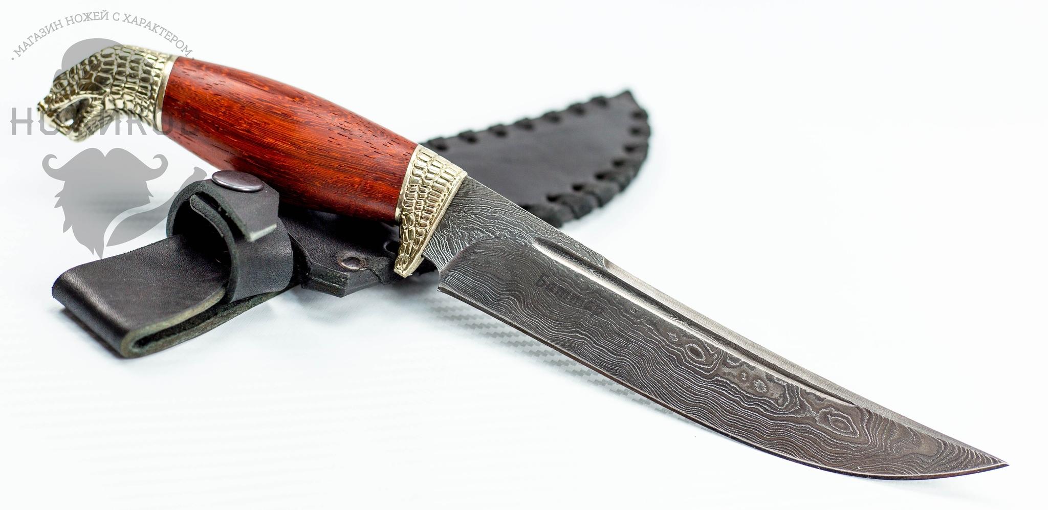 Фото 4 - Авторский Нож из Дамаска №58, Кизляр