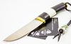 Нож Барбус, сталь D-2, черный граб, рог оленя - Nozhikov.ru