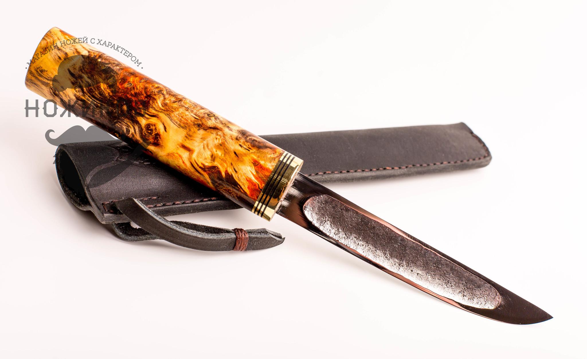 Аторский якутский нож, сталь ШХ15, средний