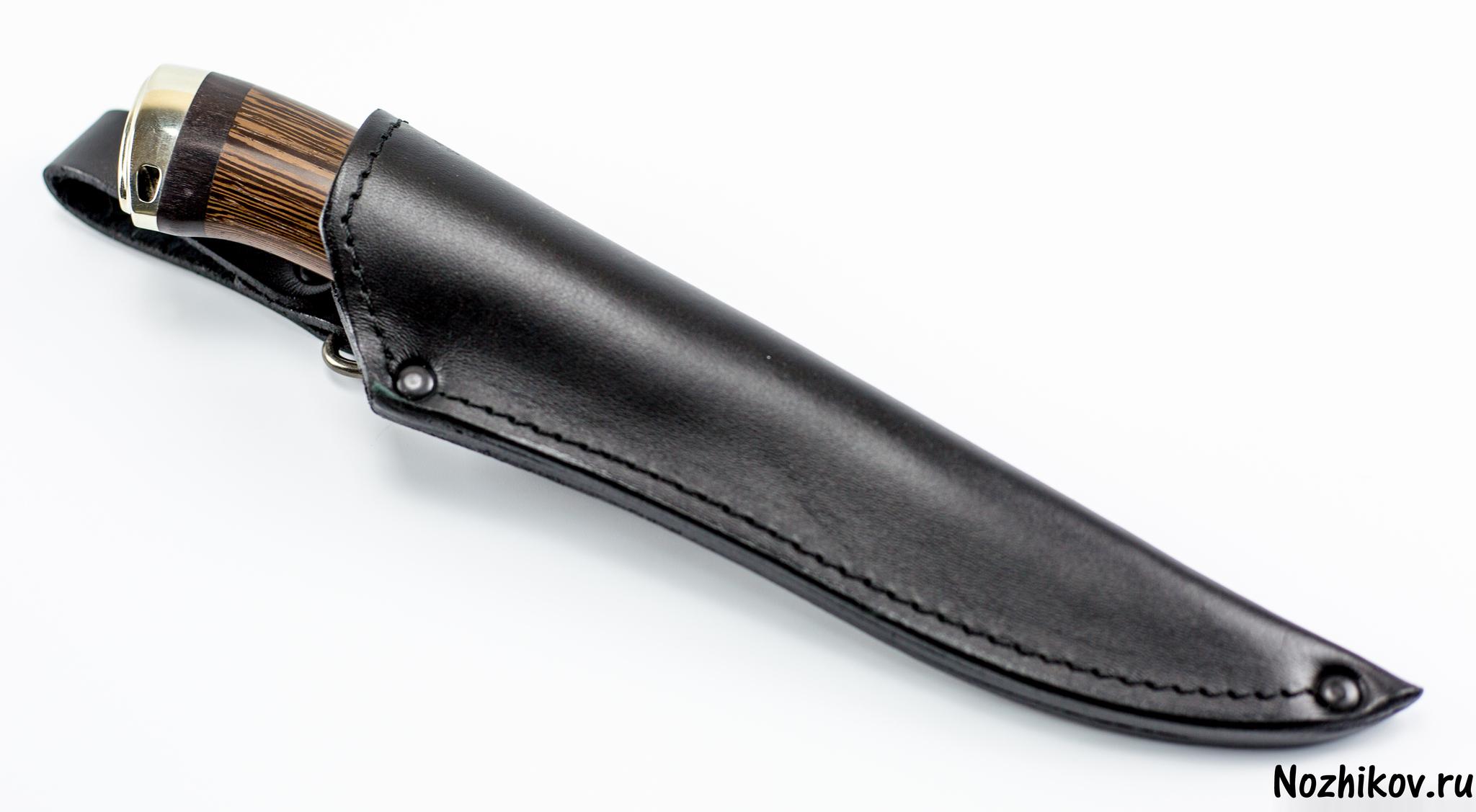 Авторский нож из тигельного булата №1, от Приказчикова