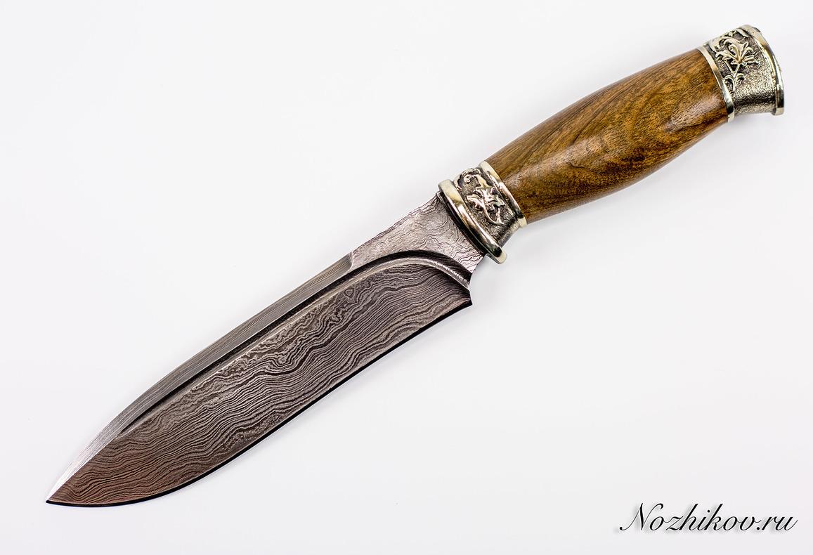 Авторский Нож из Дамаска №47, Кизляр авторский нож из дамаска 15 кизляр
