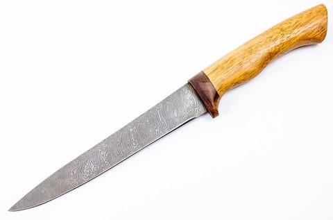 Нож филейный, дамаск - Nozhikov.ru
