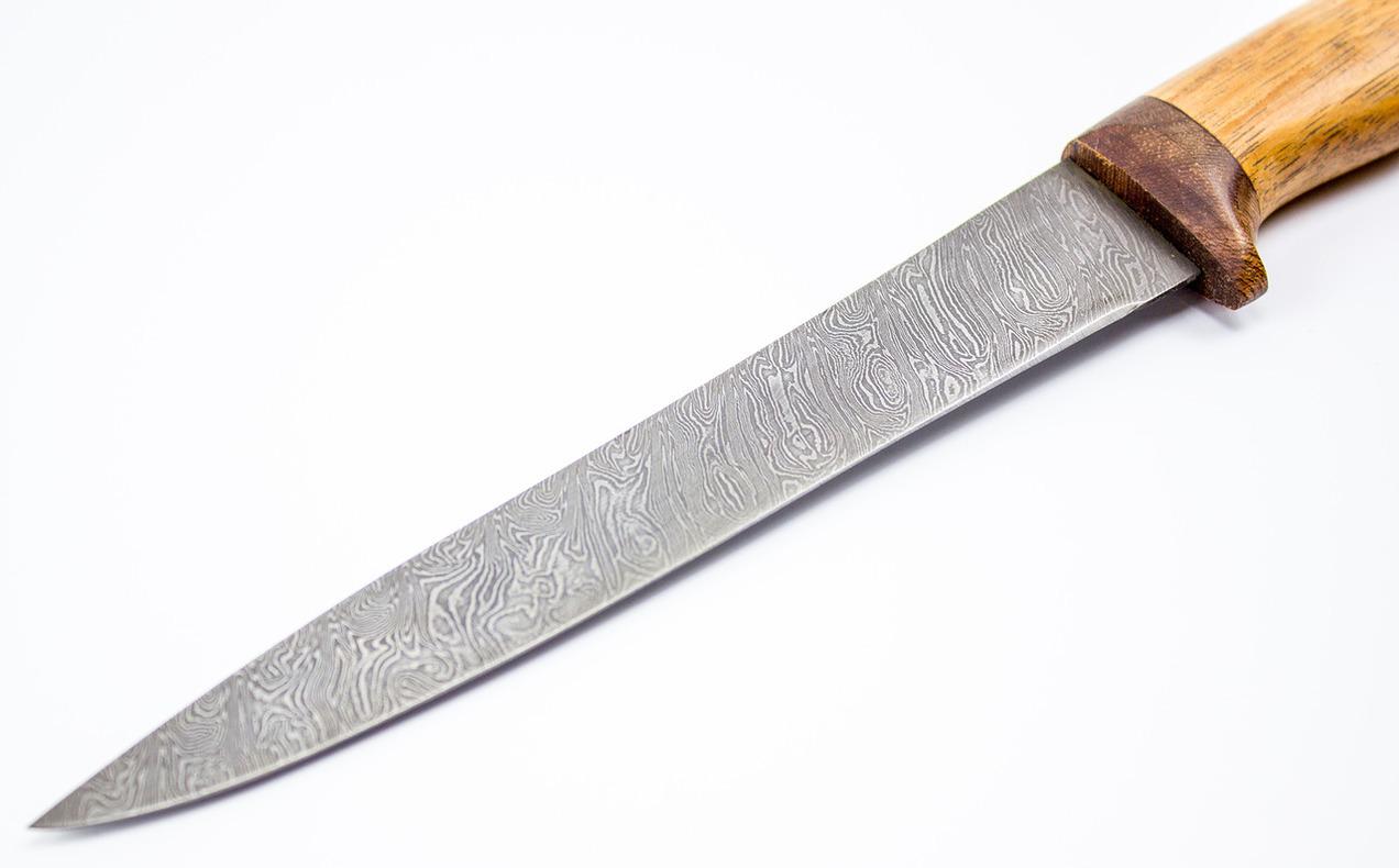 Фото 3 - Нож филейный, дамаск от Мастерская Климентьева