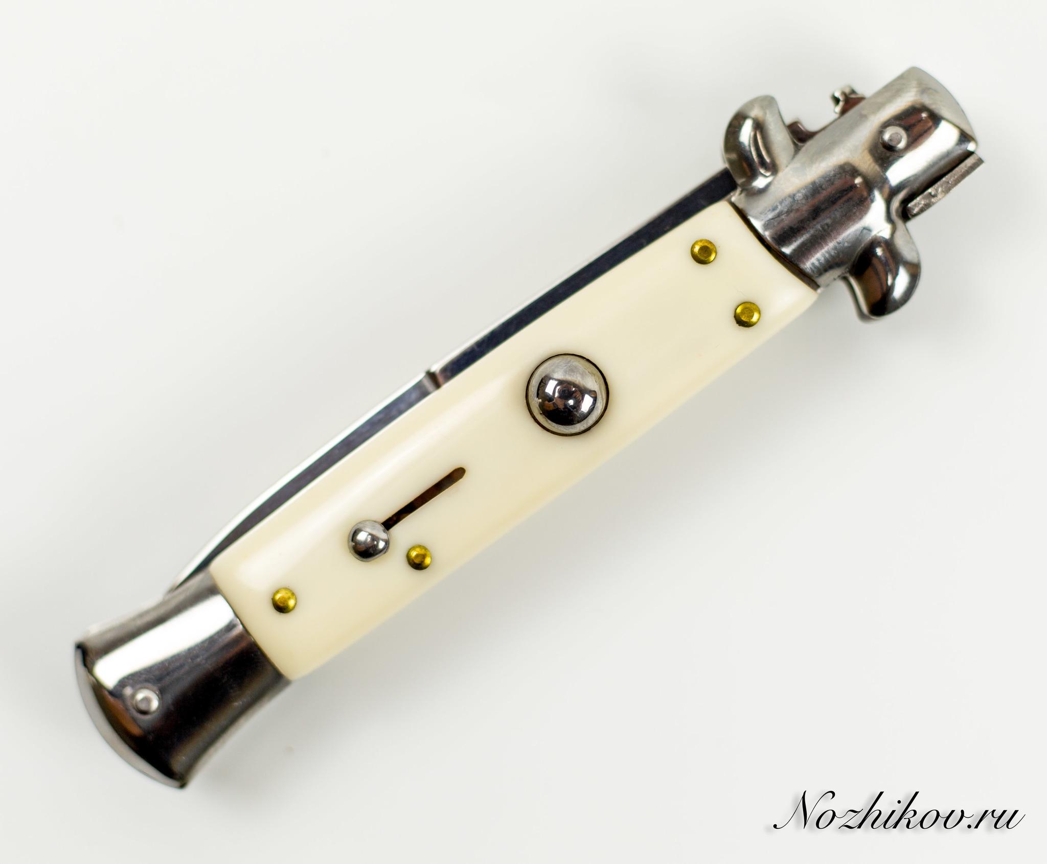 Фото 4 - Выкидной нож Корсиканец 2, цвет белый от Noname