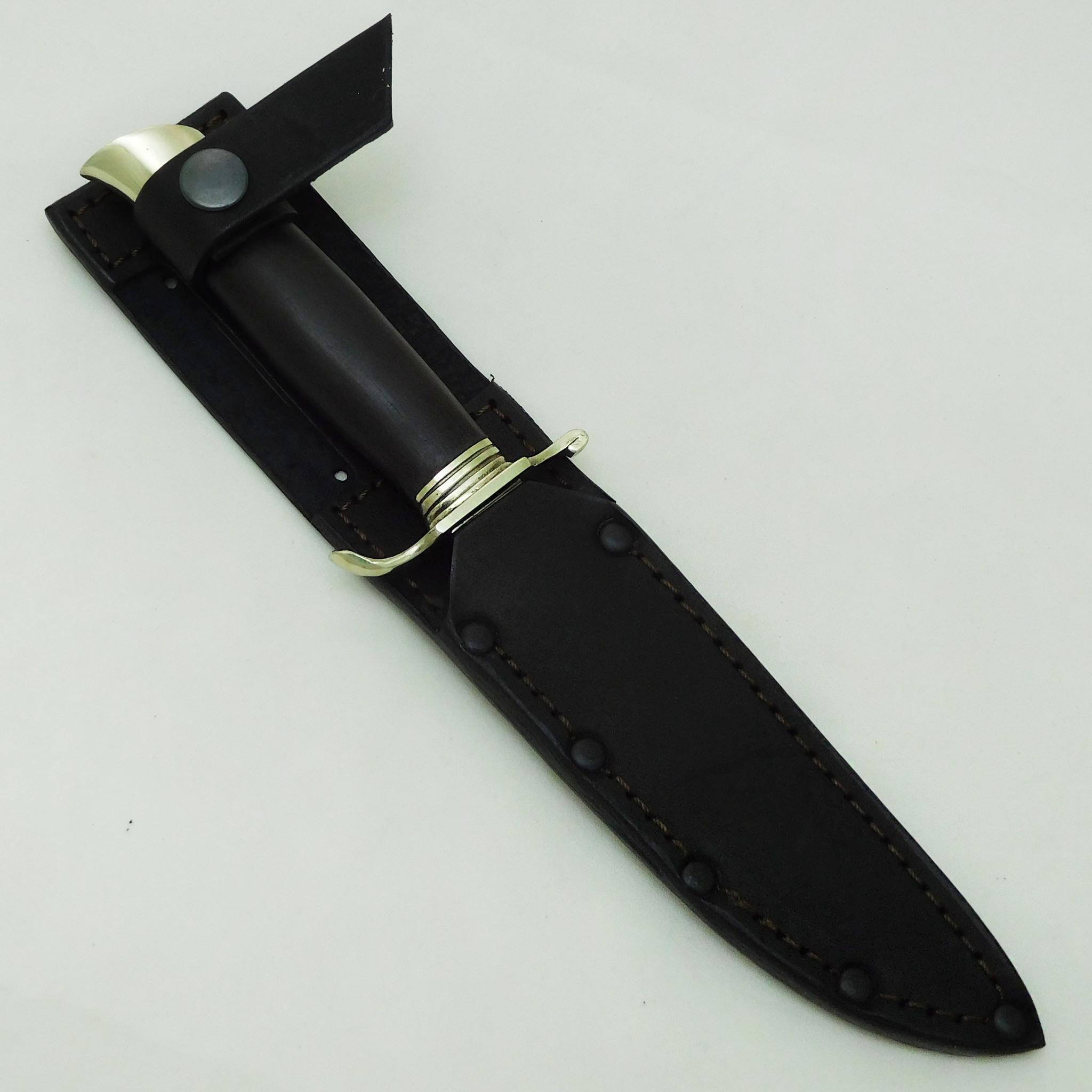 Фото 4 - Нож Финка НКВД, кованая, сталь 95х18, мельхиор от АТАКА