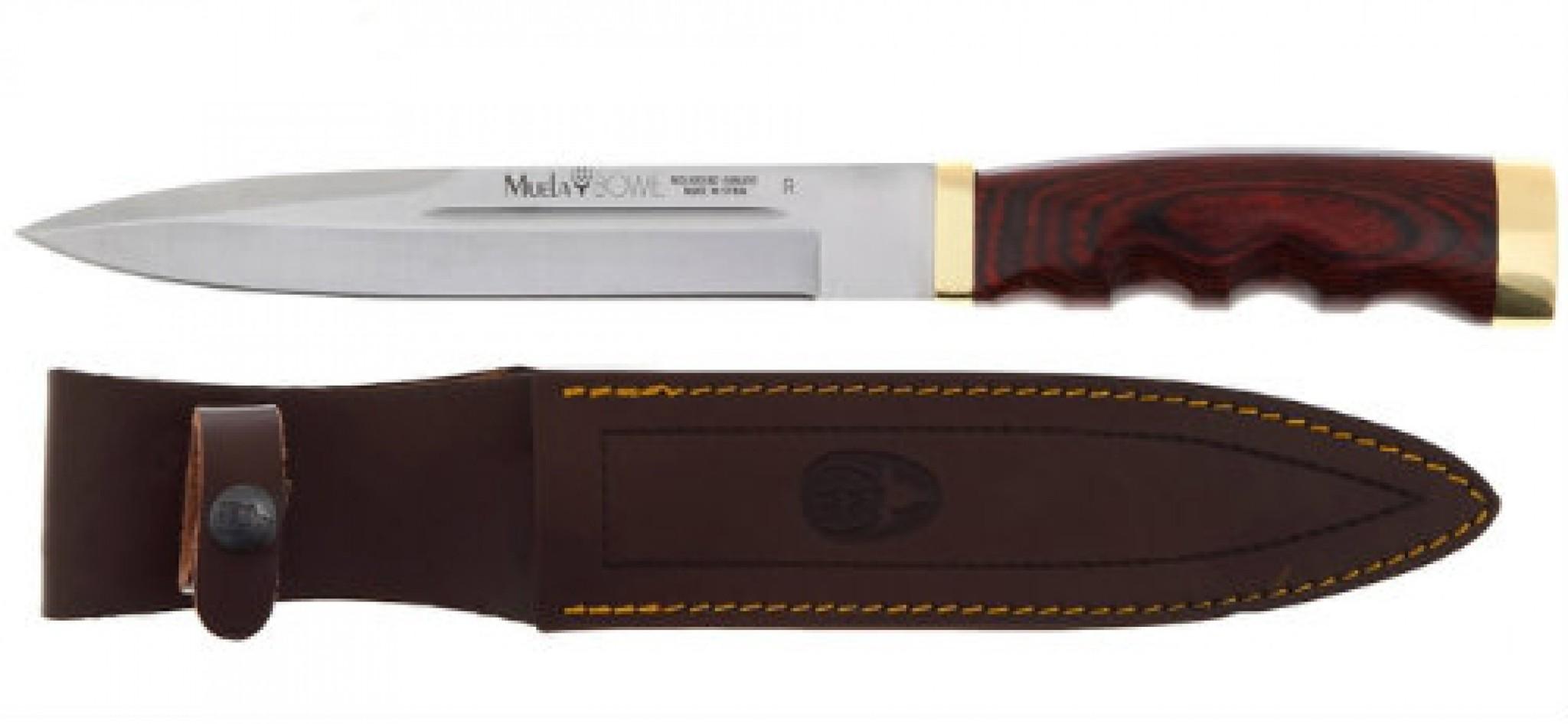 Нож с фиксированным клинком Bowie, Pakka Wood Handles 18.0 см. U/BW-18RОхотнику<br>Нож с фиксированным клинком Bowie, Pakka Wood Handles 18.0 см. U/BW-18R<br>