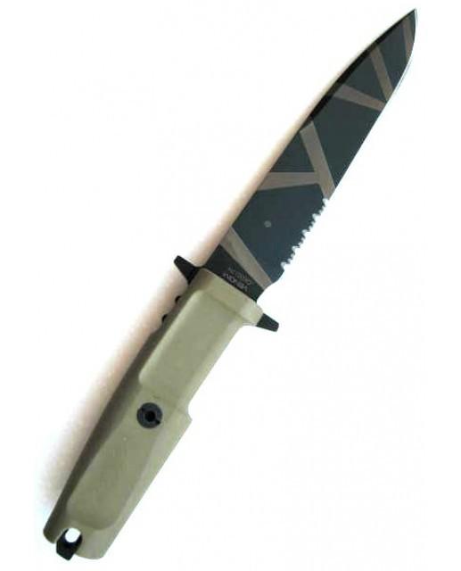 Нож с фиксированным клинком Venom Desert WarfareТактические ножи<br>Нож с фиксированным клинком Venom Desert Warfare,клинок классический, пустынный камуфляж, 1/3 серейтор, рукоять прорезиненная, чехол пластик + нейлон.<br>