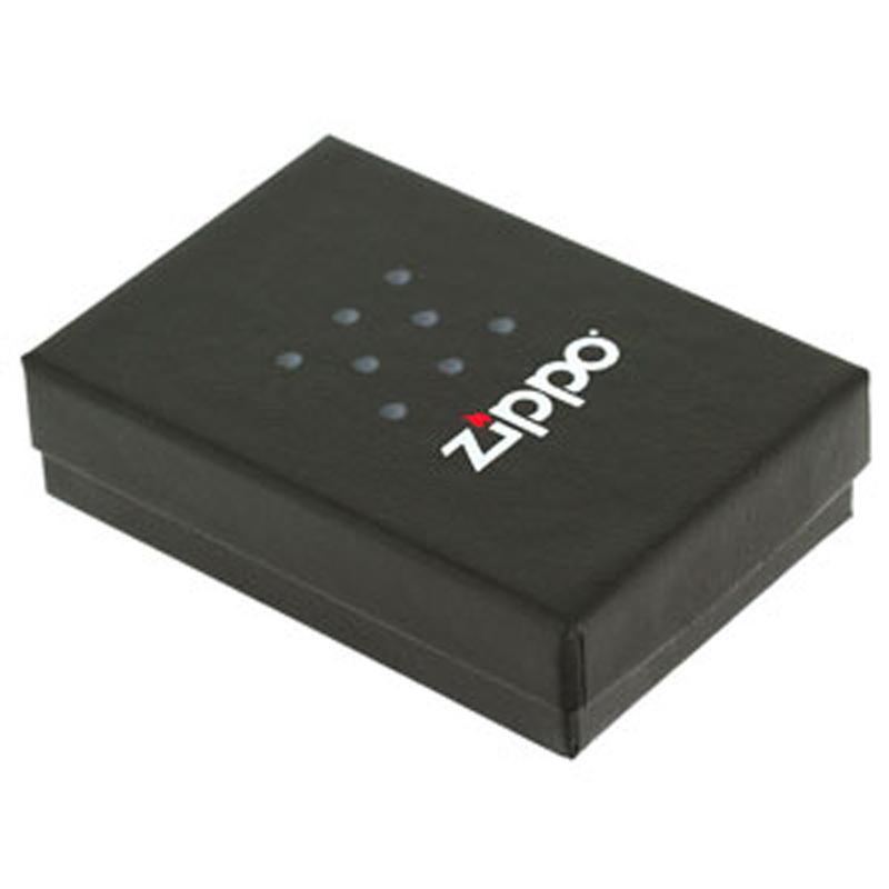 Фото 2 - Зажигалка ZIPPO, латунь с покрытием Black Matte, чёрная с надписью Zippo, матовая, 36x12x56 мм