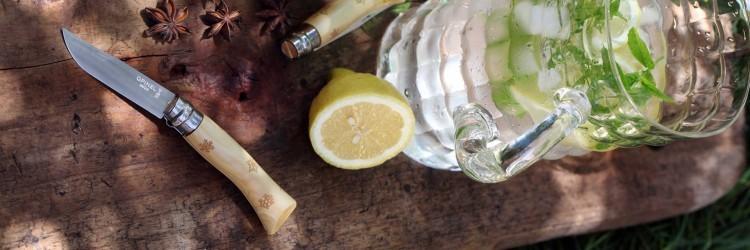 Фото 2 - Нож складной Opinel №7 Nature, самшит, снежинки