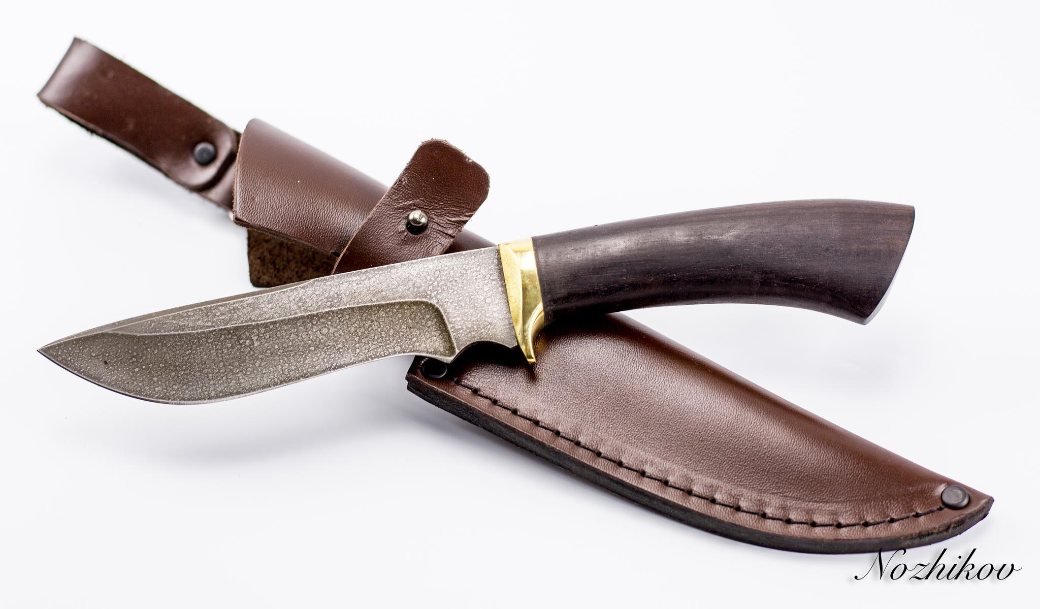 Фото 6 - Нож Волк-2, сталь ХВ5, граб от Промтехснаб