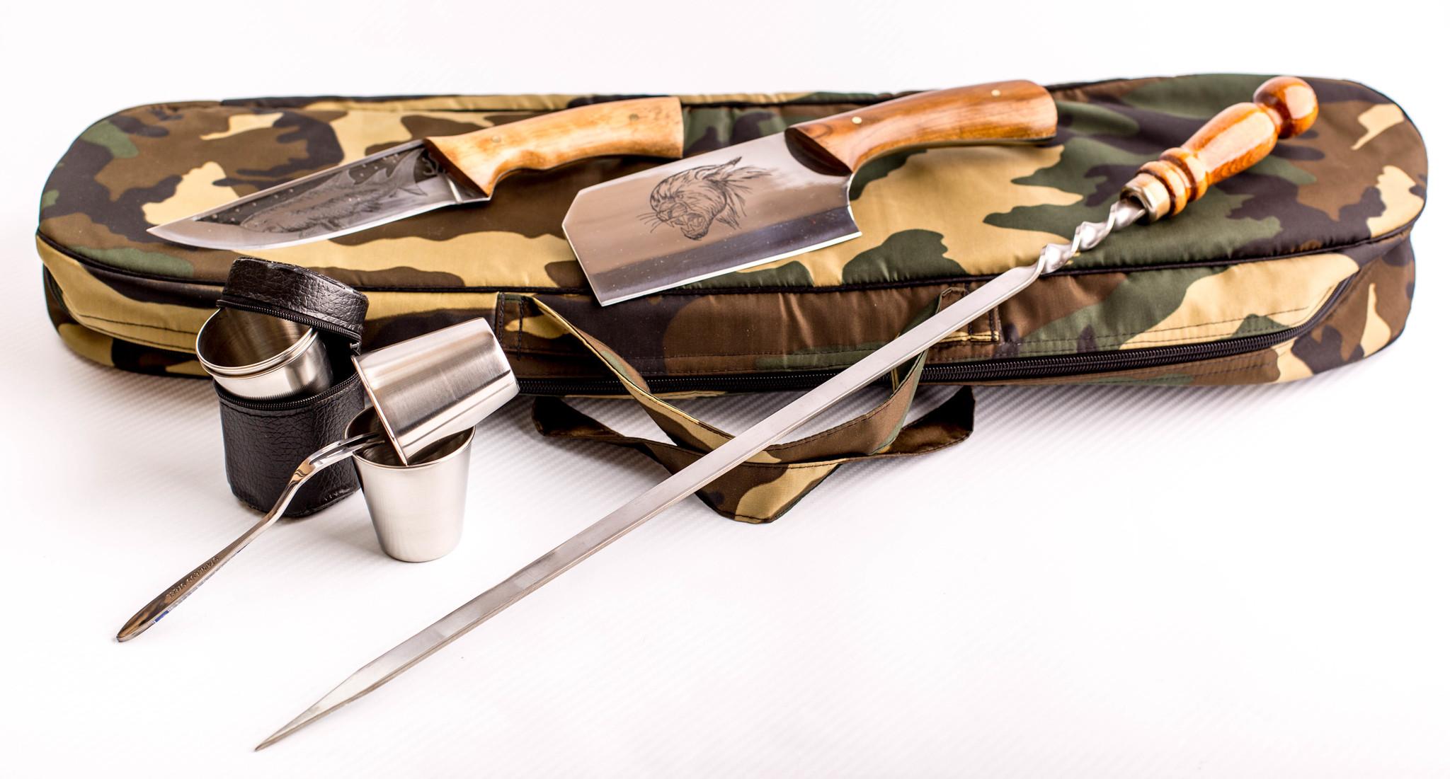 Фото 6 - Шашлычный набор Камуфляж, Кизляр от Кизляр СТО