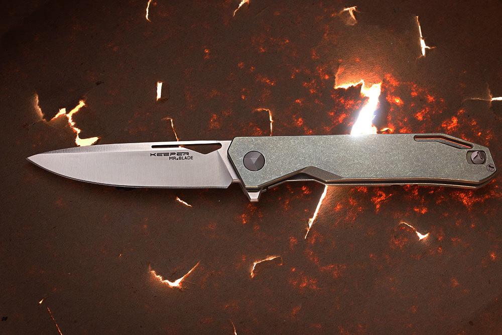 Складной нож Keeper M390/TitaniumMr.Blade<br>Топовой нож из порошковой стали M390 и с титановой рукоятью!<br>