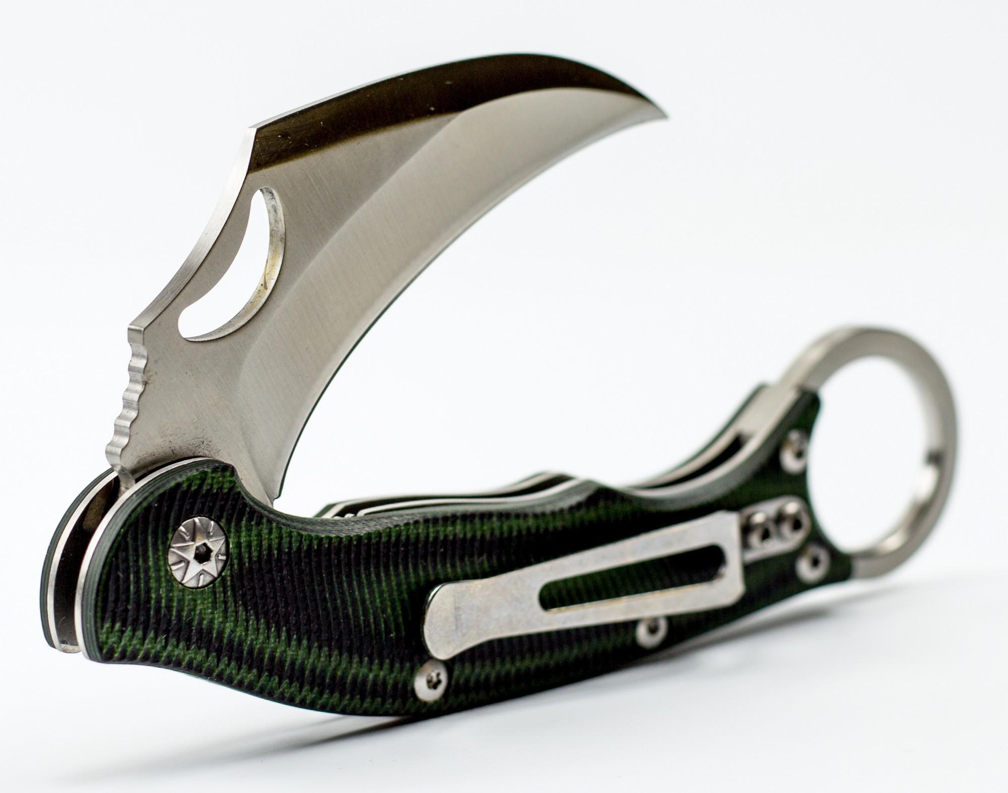 Складной нож Керамбит, зеленый
