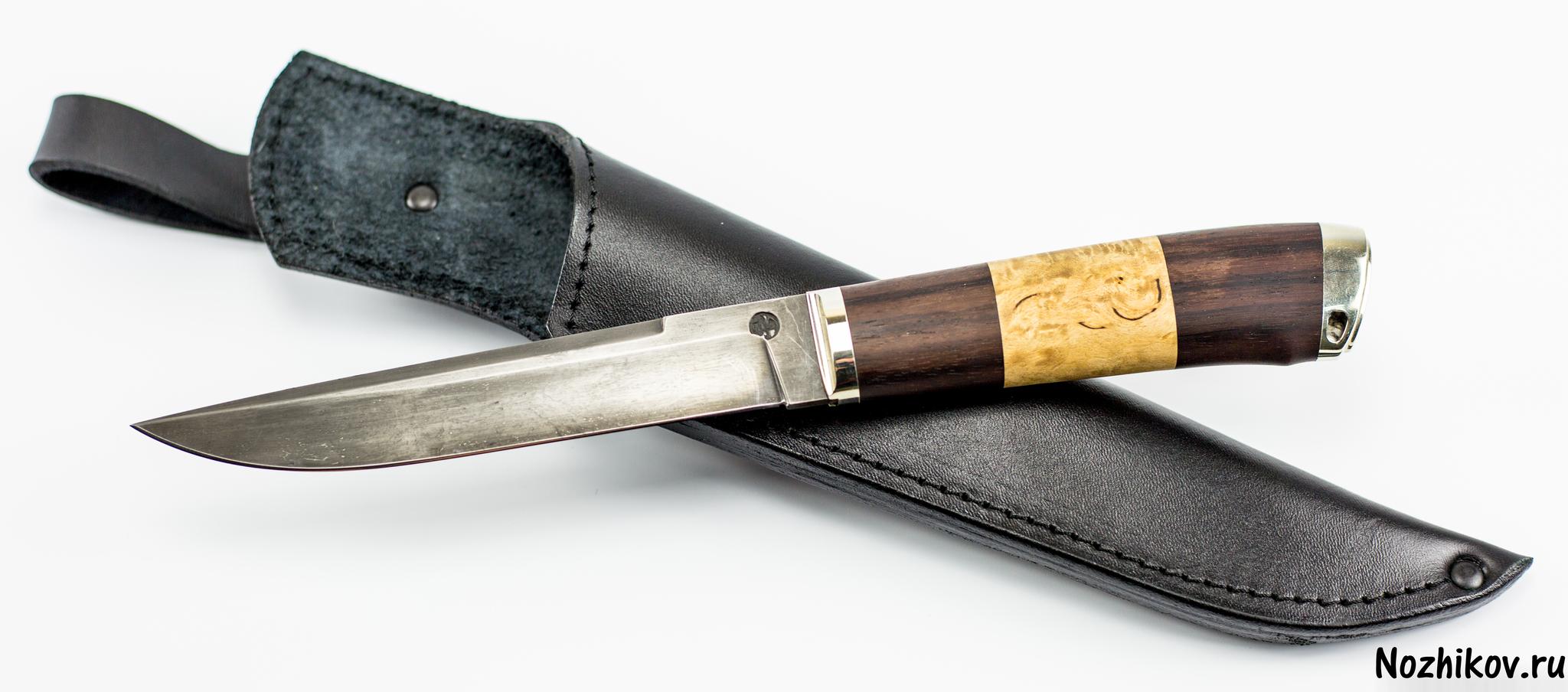 Авторский нож из тигельного булата №3, от Приказчикова, от ПриказчиковаНожи Павлово<br><br>