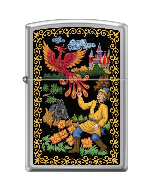 Зажигалка ZIPPO Жар-Птица, латунь/сталь с покрытием High Polish Chrome, серебристая, 36x12x56 мм23 февраля<br>Зажигалка ZIPPO Жар-Птица, латунь/сталь с покрытием High Polish Chrome, серебристая, 36x12x56 мм<br>