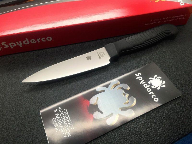 Фото 3 - Нож кухонный универсальный 11.4 см. K05PBK от Spyderco