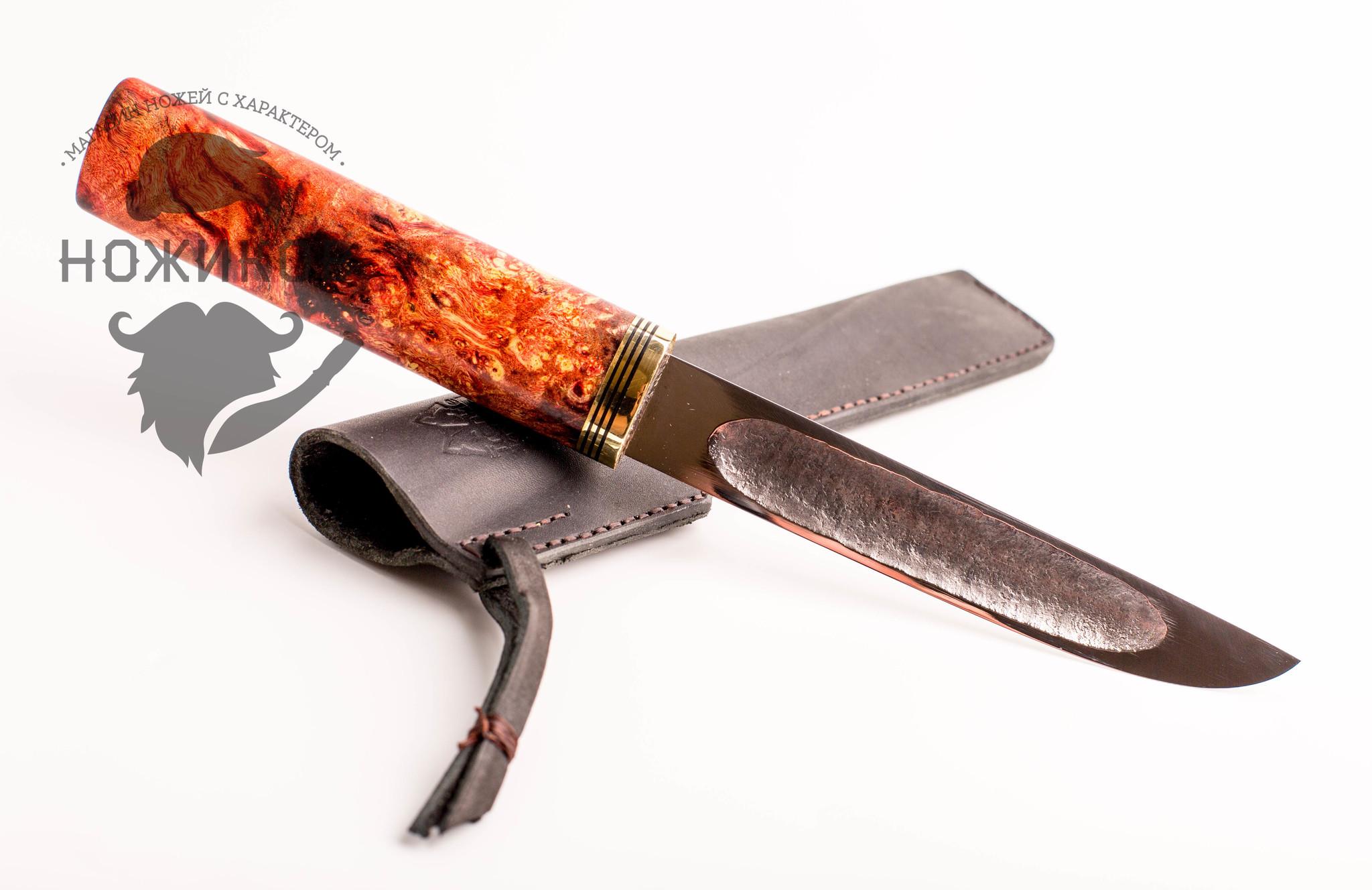Авторский якутский нож из стали ШХ15, среднийАвторская мастерская Trenkle Knives<br>Ручная работа, погрешность в размерах может достигать 10 мм. Цветовая гамма на ручке так же может отличаться<br>