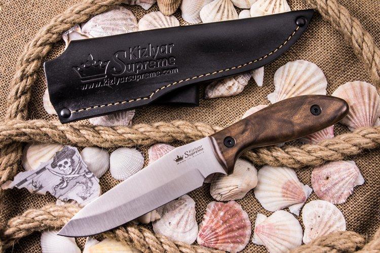 Фото 4 - Нож Flint AUS-8 SW, орех, Kizlyar Supreme