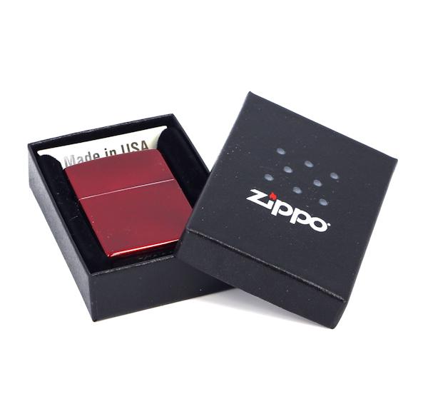Фото 2 - Зажигалка ZIPPO Classic с покрытием Candy Apple Red™, латунь/сталь, красная, глянцевая, 36x12x56 мм