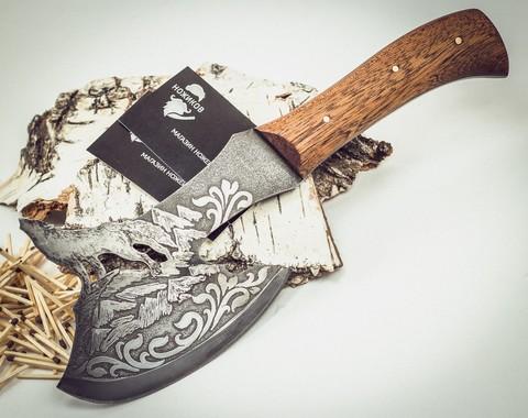 Топорик Волк, сталь 9ХС - Nozhikov.ru
