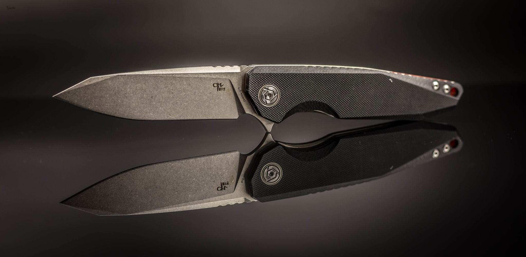 Складной нож CH3004 сталь D2, черный от ch outdoor knife