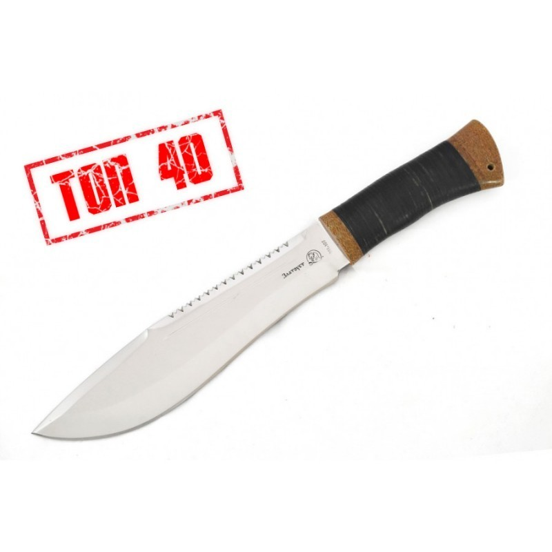 Мачете Малыш кожа, Златоуст, 95х18 нож мачете балу